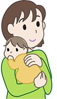 鳴門市鳴門坂口鍼灸整骨院:産後骨盤矯正のイメージイラスト
