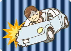 鳴門市鳴門坂口鍼灸整骨院:交通事故のイラスト